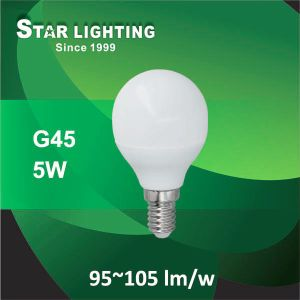 Aluminum Plastic 5W Mini G45 LED Global Bulb
