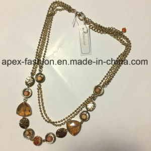 Multilayer Acrylic Necklace with Metal Fashion Jewelry Decoration Daily