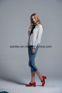 Ladies Blouse 100% Polyester Irregular Fashion Shirt Fashion Top Spring Autumn Girl pictures & photos
