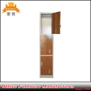 Kd Structure Vertical 3 Door Metal Clothes Cabinet Steel Locker pictures & photos
