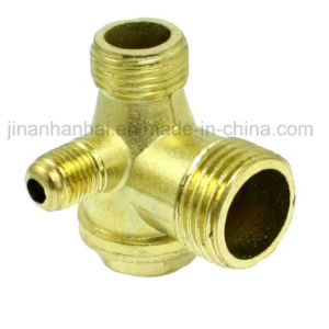 Male Thread Brass Air Compressor Spare Parts Check Valve Gold Tone pictures & photos