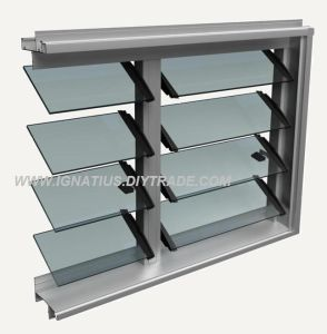 Residential Grade Aluminium Frame Frosted Glass Louver Window pictures & photos