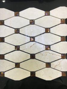 Diamond Yellow Marble Stone Mosaic Tile pictures & photos