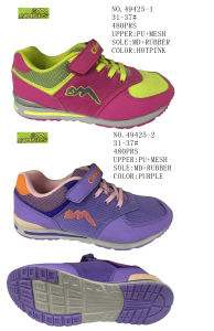 No. 49425 Well Fitting Children Stock Shoes Girl Shoes pictures & photos