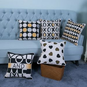 Foil/Gold&Silver Printed Decorative Cushion/Pillow (MX-45) pictures & photos