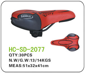 Black and Red Leather MTB Saddle (SD-2077) pictures & photos