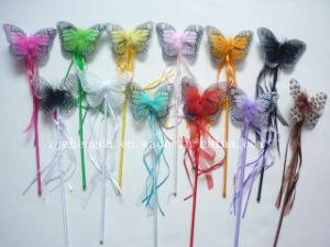 Princess Butterfly Wand Fairy Party Girls Accessory Ribbon Magic Stick