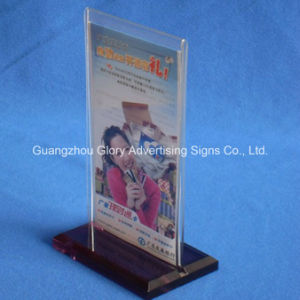 A5 Size Acrylic Menu Holder Display Stand pictures & photos