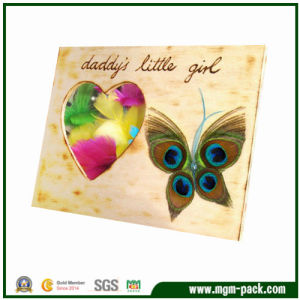 Factory Price Rectangle Wooden Craft Picture Frame for Gift pictures & photos