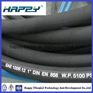 4 Wire Black Hydraulic Hose SAE100 R12 pictures & photos