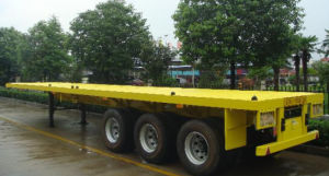 3 Axle Flat Bed Container Semi Trailer pictures & photos