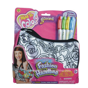Color Your Own Fashion Handbag with Markers (SF-2032)