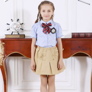 Beautiful Shirts and Skirt Design for Middle School Uniform Factory pictures & photos