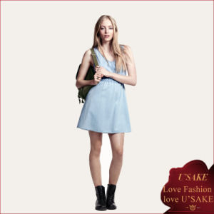 China Supplier Top Fashion Jeans Denim Casual Dress (S304090)
