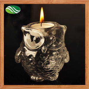 Creative European Owl Glass Candlestick pictures & photos