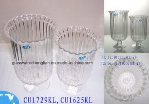 Machine Made Clear Glass Vase (CU1625KL) pictures & photos