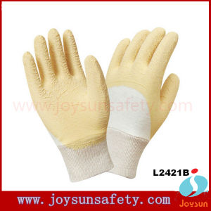 Nitrile PVC Latex Coated Gloves Cotton Coating Glove (LPN)