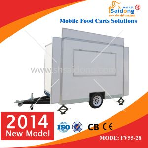 Luxury Street Mobile Food Kiosk Coffee Cart for Sale