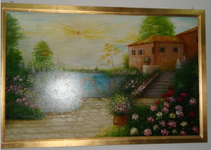 Golden Big Painting Landscape Decorative Frame pictures & photos