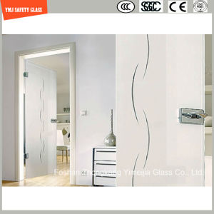 Anti-Fingerprint Acid Ethced Tempered Glass Shower Door pictures & photos