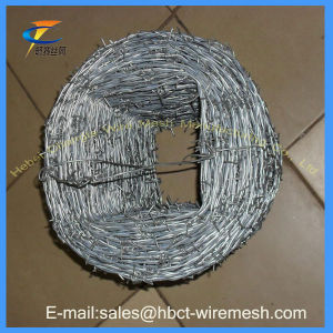 25kg/Roll Heavy-Duty Galvanized Barbed Wire pictures & photos