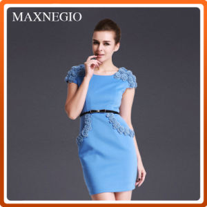 Elegant High-Waist Dress Women Suit for Office Lady (3-5533)