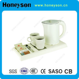 Honeyson New Cordless Electric Kettle with Tray Set 110V pictures & photos