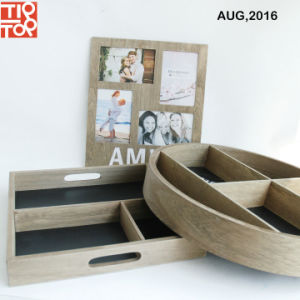 High Quality Wooden Breakfast Tray with Menu Blackboard pictures & photos