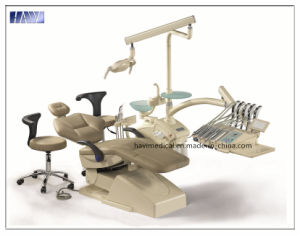 Luxury Leather Dental Chair Unit with Taiwan Imported Motor pictures & photos