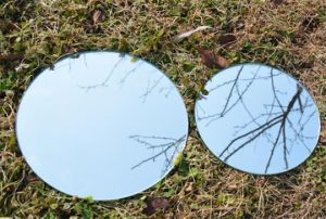 Circle Mirror for Hotel with Bevel Edge