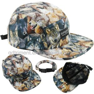 100% Polyester Snapback Flat Bill Outdoor Sport Camp Cap (TMFL6680-1) pictures & photos