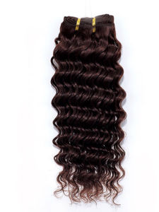 Deep Wave Remy Human Hair Extensions Chinese/Brazilian/Indian Human Hair pictures & photos