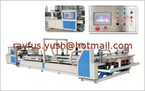 Folder Gluer of Corrugated Carton Box Making Machine pictures & photos