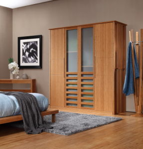 Modern Bamboo Wardrobe with Sliding Door for Bedroom pictures & photos