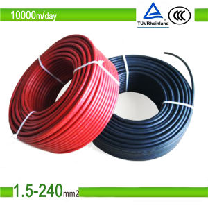 TUV Approved Tinned Copper DC Solar PV Cable 4mm2 pictures & photos