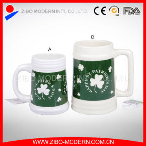 Large Ceramic Beer Mug with Imprint Design in Different Colors pictures & photos