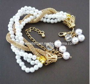 Fashion Multilayer Pearl Bracelet (XBL12630) pictures & photos