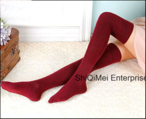 Fashion Lady Girls Cotton Hot Sale Knee High Long Socks Sexy Stockings pictures & photos