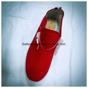 Women Sport Shoes with Red Upper and White PVC Outsole pictures & photos