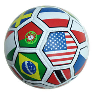 PVC Soccer Ball, Machine Stitching, Rubber Bladder, for Promotion (B01330) pictures & photos