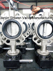 Stainless Steel Wafer Type Butterfly Valve with Gear pictures & photos