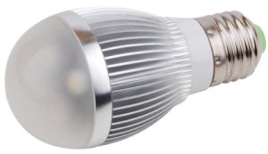 220V 3W LED Bulb with Silver Aluminum Cool White