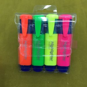 4 Colors Highlighter Marker Pen with Card Packing, Fluorescent Pen pictures & photos