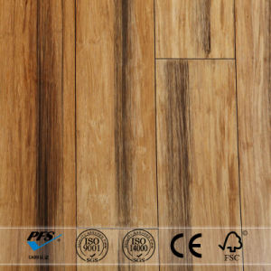 Stained Natural Hand-Painting Black Strand Woven Bamboo Flooring