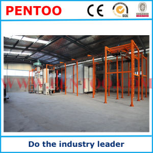 Manual Powder Painting Booth for Aluminum Sections with Recovery System pictures & photos