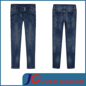 Factory Wholesale Ladies Fashion Denim Garment Jean Pants (JC1265) pictures & photos