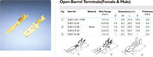 DJ Series Male&Female Open Barrel Terminals Suit 1 pictures & photos
