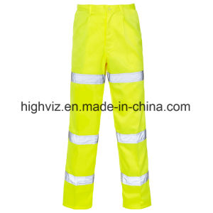Hi Visibility 3 Band Polycotton Trousers with En20471 (C2397) pictures & photos