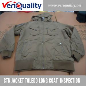Reliable Quality Control Inspection Service for CTN Jacket Toledo Long Coat at Shishi, Fujian pictures & photos