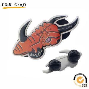 Metal Cmyk Print Logo with Epoxy Badge Ym1102 pictures & photos